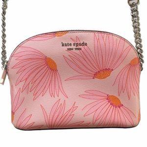HP🎉 Kate Spade Pink Flower Floral Crossbody Bag